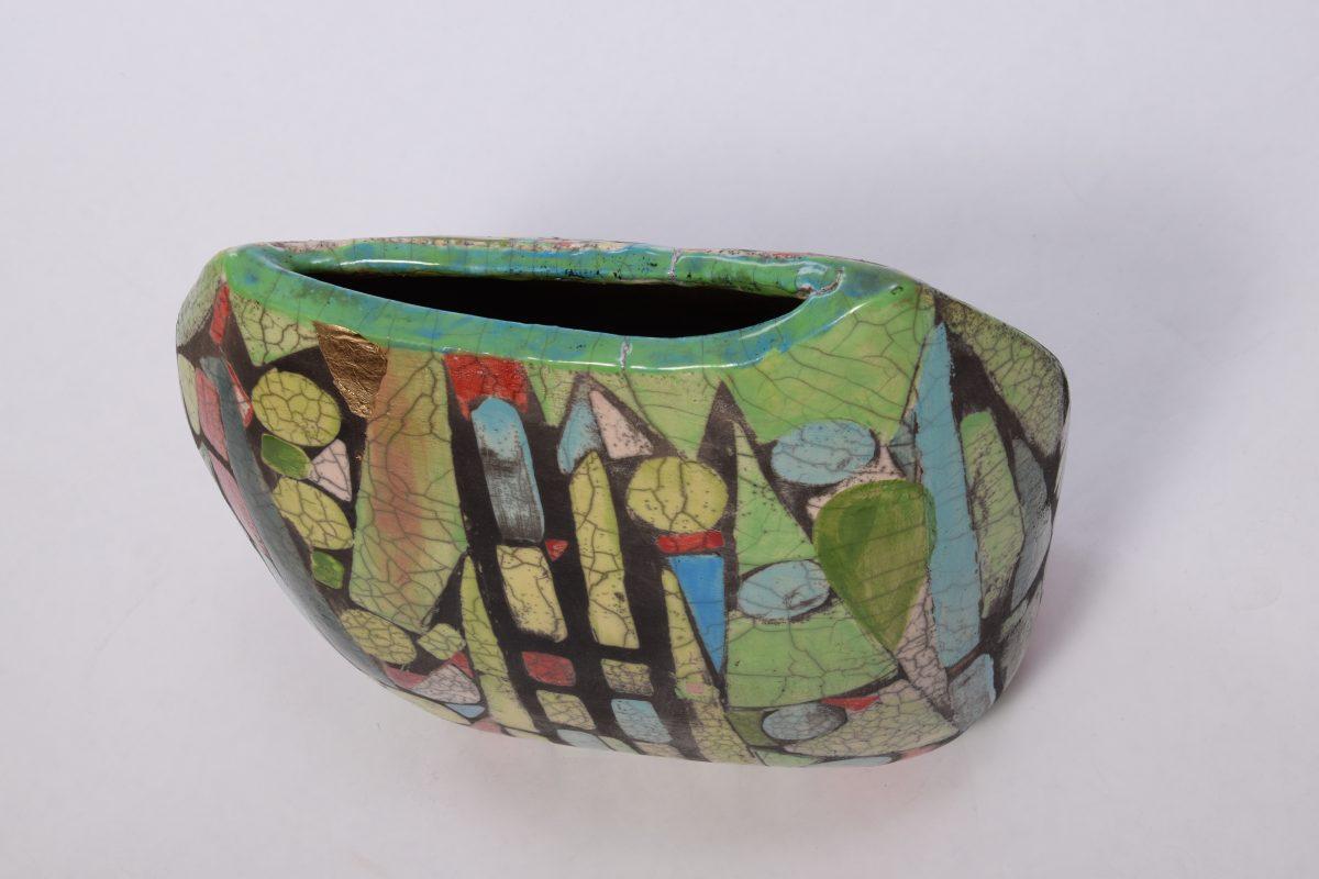 Mosaik Spargel Vase von hinten